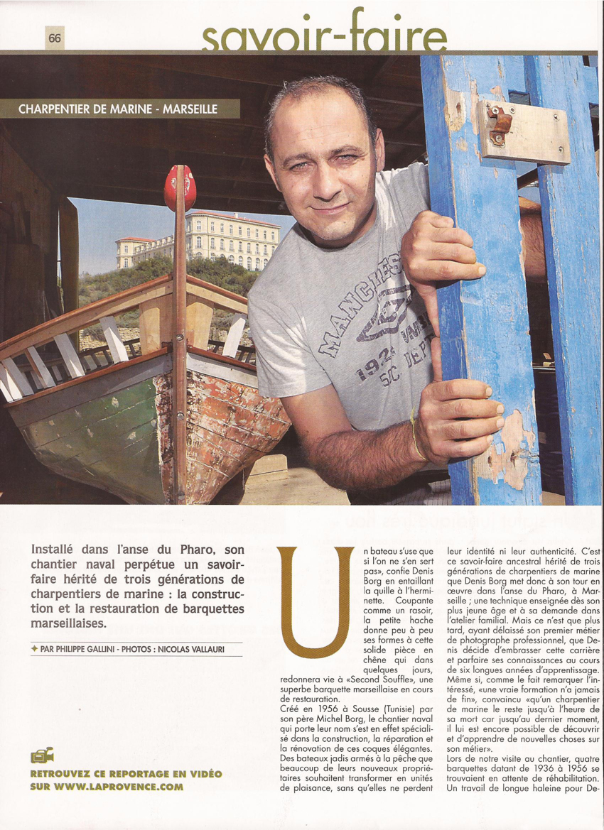 Article Gens Du Sud, 2011. Chantier Naval Borg